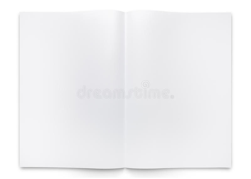 Blank two fold paper brochure or book stock photos