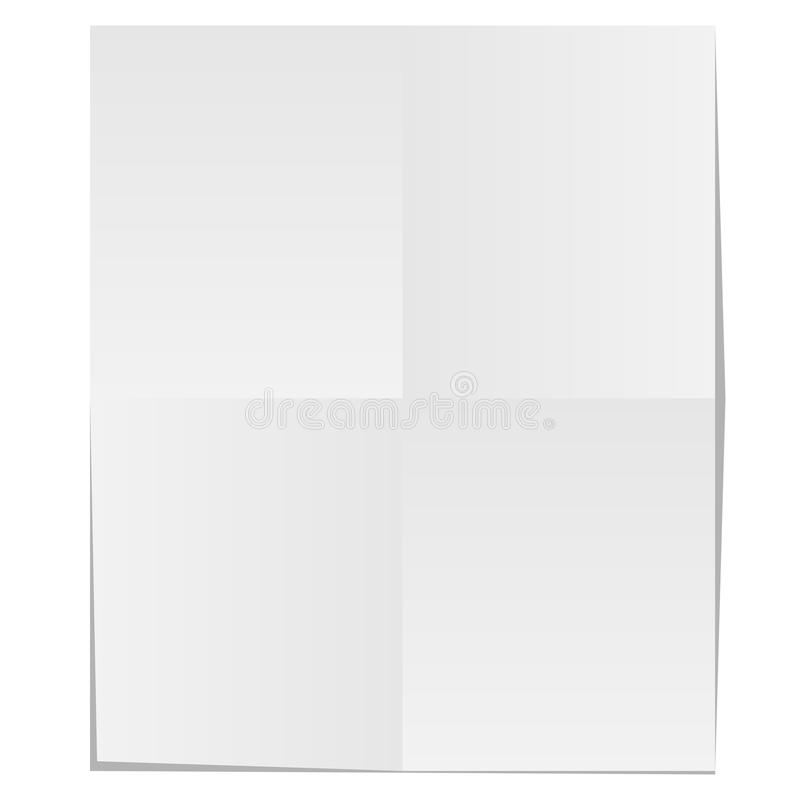 Download Blank unfolded paper stock image. Image of space, creased - 13039867