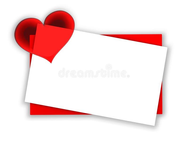 blank valentine card royalty free illustration