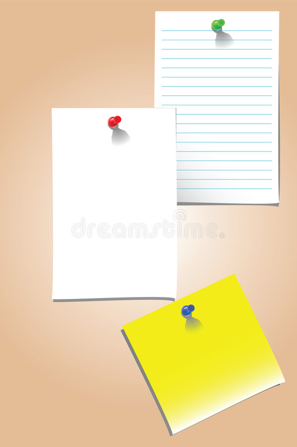 Blank Vector Memo Stock Vector Illustration Of Thumb