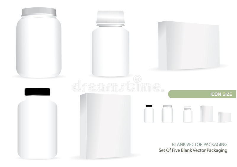 Download Blank Vector Packaging stock vector. Image of five, icon - 19231503