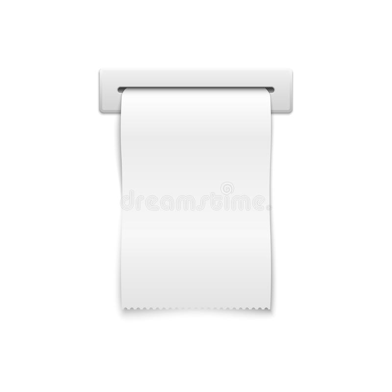 Blank Vector Shopping Cash Receipt Stock Vector Illustration Of - Shopping receipt template