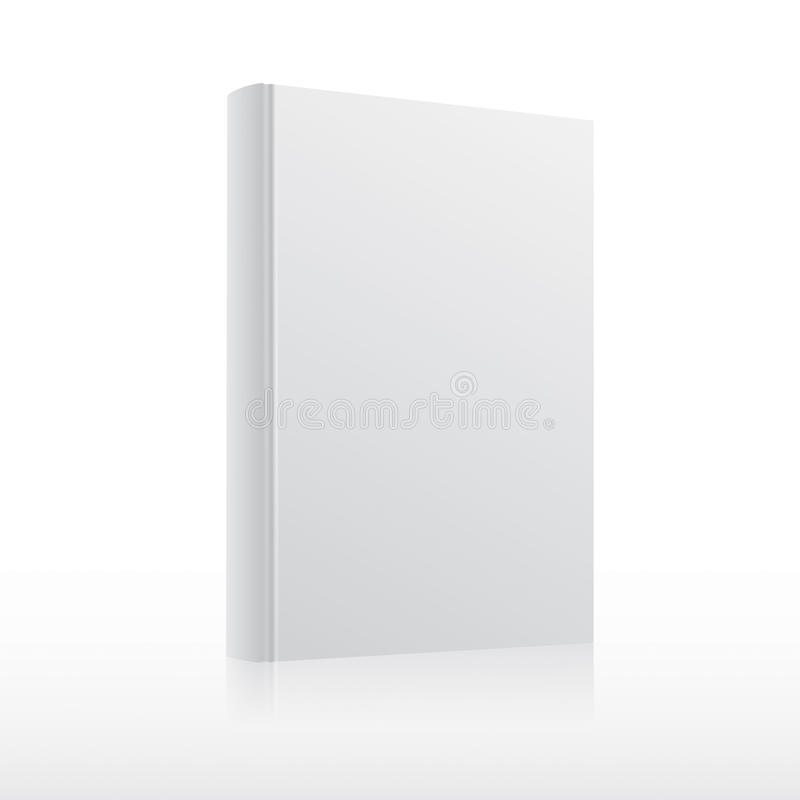 Blank Book Cover Vector Illustration Free : Blank vector white book cover template stock