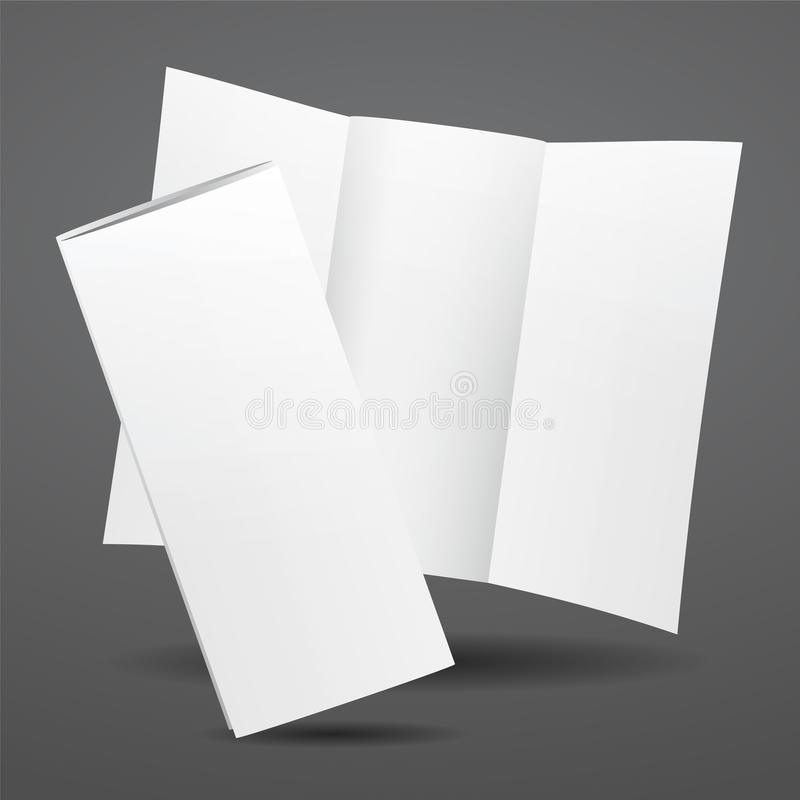 Blank Vector White Tri Fold Brochure Template Stock Vector