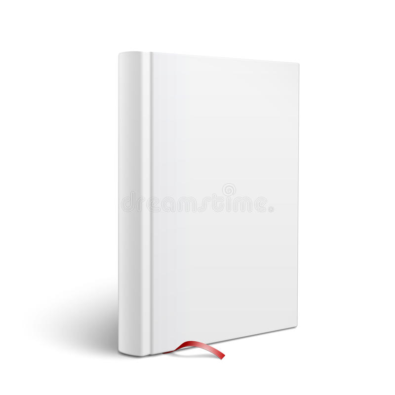 Blank Vertical Book With Bookmark Template Stock Vector