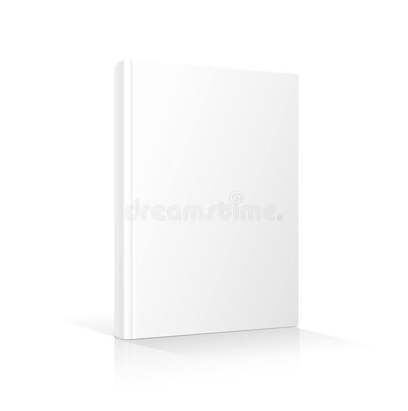 Blank Book Cover Vector Illustration Free ~ Blank vertical book cover template standing on stock