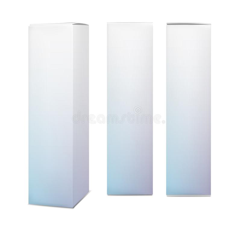 Blank vertical paper box stock illustration