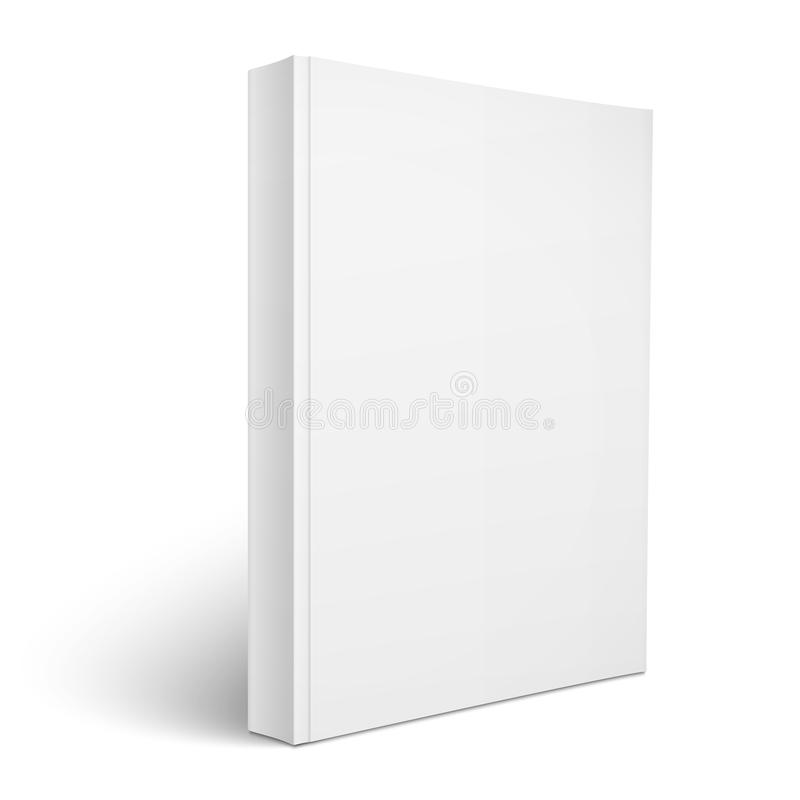 Blank vertical softcover book template. royalty free illustration