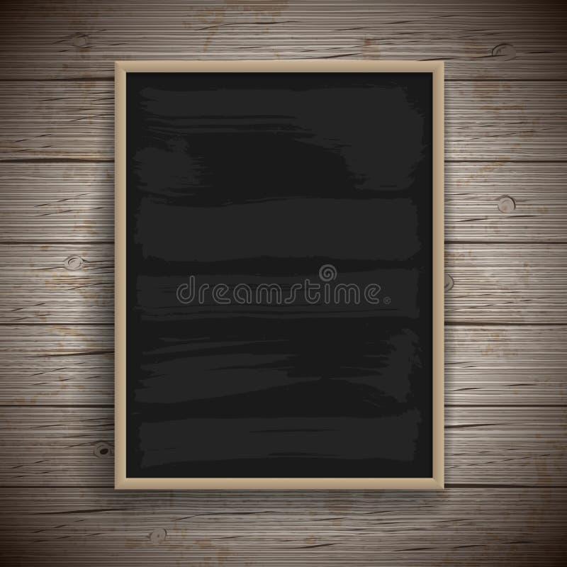 Blank vintage chalk board background vector illustration