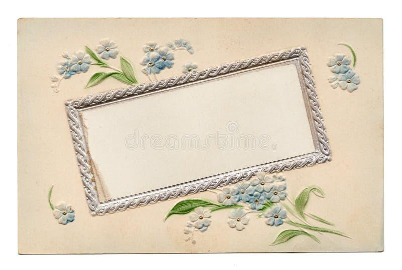 Blank Vintage Floral Postcard 1910's royalty free stock images