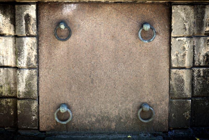 Blank vintage grave frame royalty free stock photos