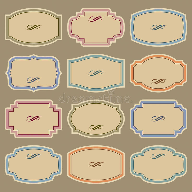 Download Blank Vintage Labels Set (vector) Royalty Free Stock Photos - Image: 18782808