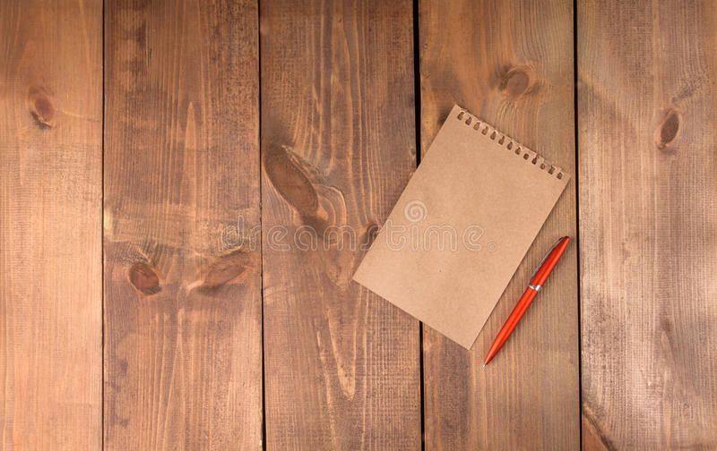 Blank vintage paper sheet with pen stock photos