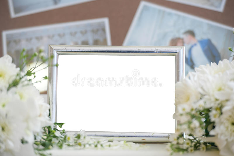 Blank vintage photo frame. royalty free stock images