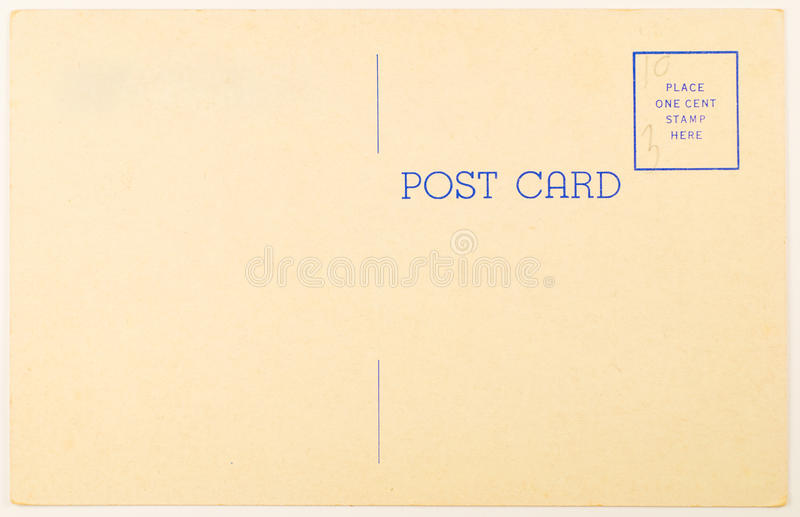Download Blank Vintage Postcard stock photo. Image of mail, blue - 12766534