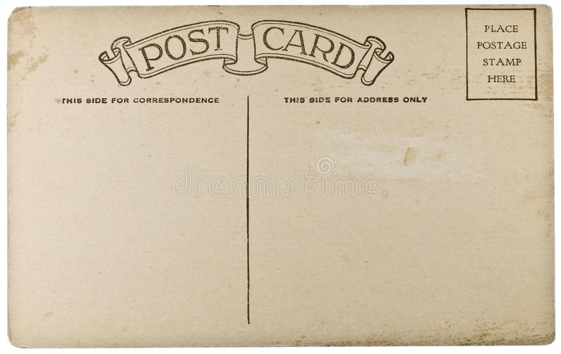 Download Blank Vintage Postcard Stock Photography - Image: 12782712