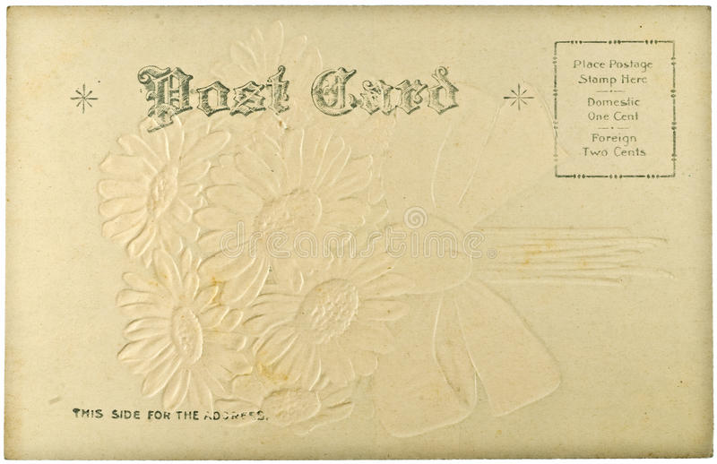 Download Blank Vintage Postcard stock photo. Image of postal, ragged - 12782718