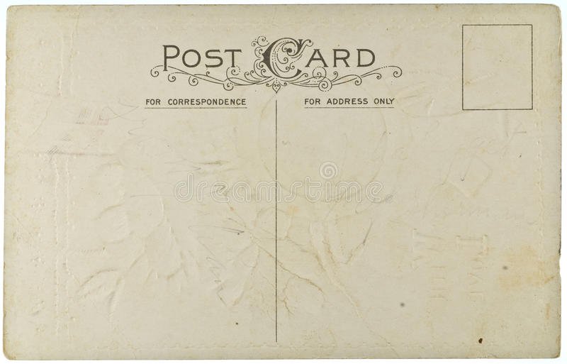 Download Blank Vintage Postcard Stock Photos - Image: 12819593