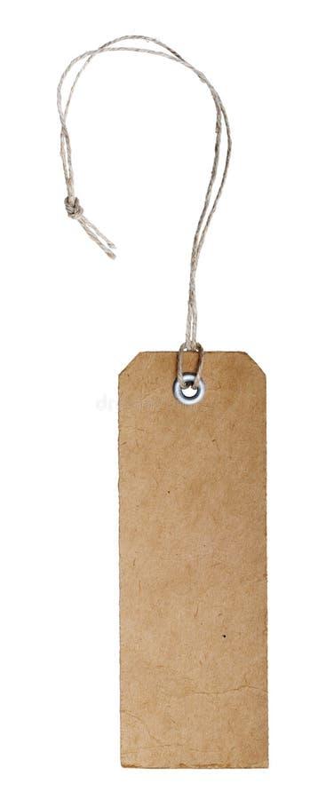 Blank vintage tag stock photo