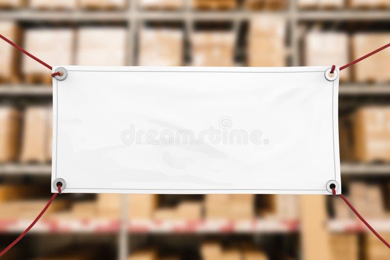Blank vinyl banner stock photo