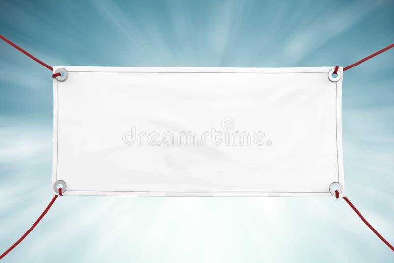 Blank vinyl banner royalty free stock photo