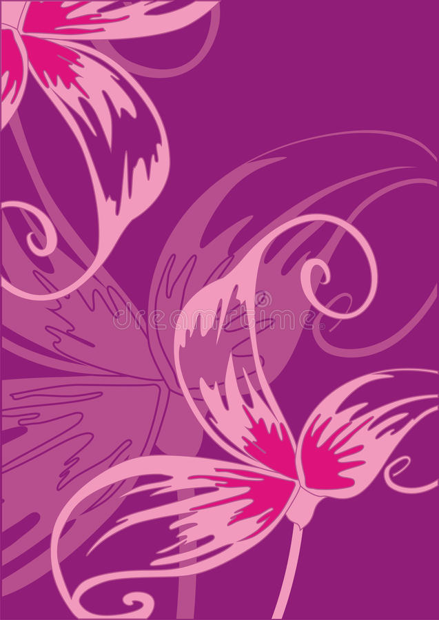 Blank with violet flowers. royalty free illustration