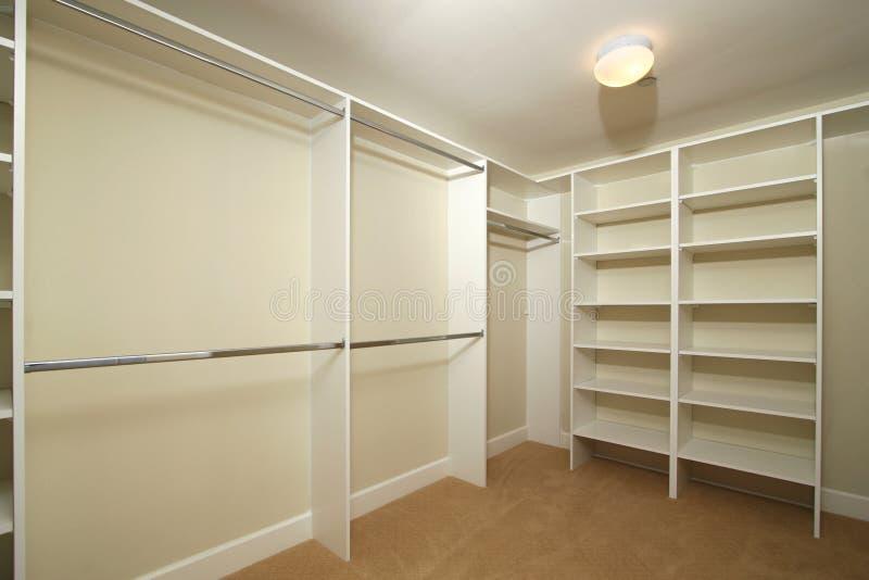 Blank walk-in closet royalty free stock photo