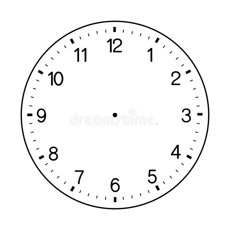 Free Blank Wall Clock Face Vector On White Background Stock Photos - 98813143