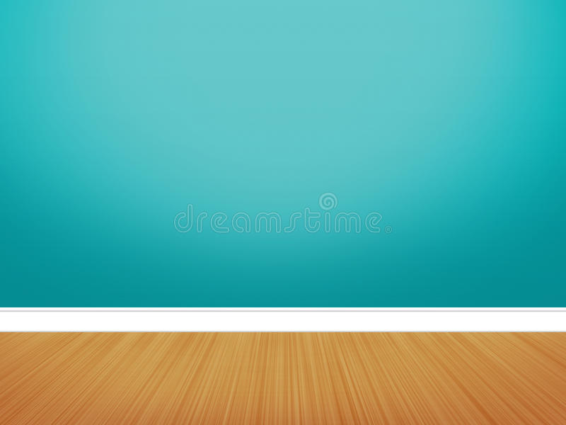 Blank Wall. In the room. Designers can put anything on it as per their concept vector illustration