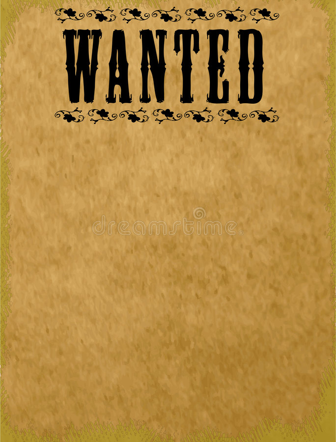 Blank Wanted Poster stock illustration. Illustration of ...