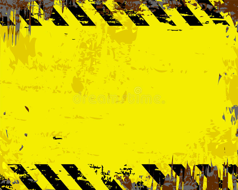 Blank Warning Sign Stock Vector Illustration Of