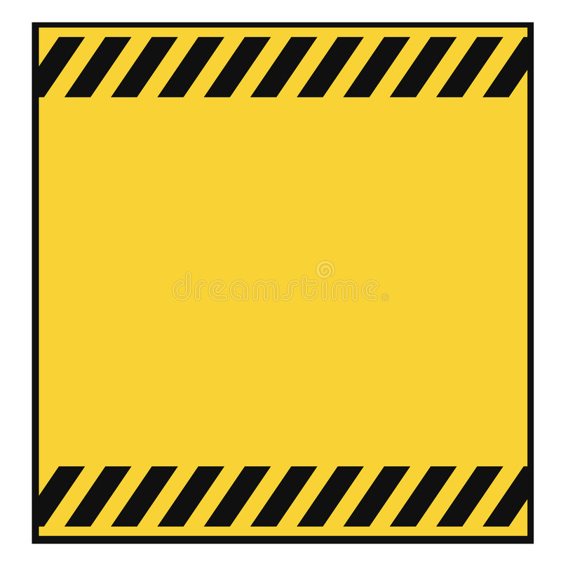 Blank Warning Template Stock Images - Image: 8868534