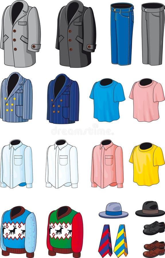 blank wear för män s royaltyfri illustrationer