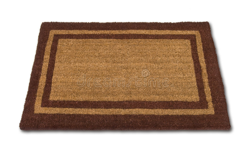 Blank Welcome Mat Isolated Royalty Free Stock Image