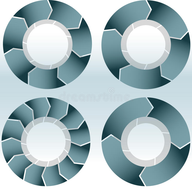 Blank Wheel Set stock illustration
