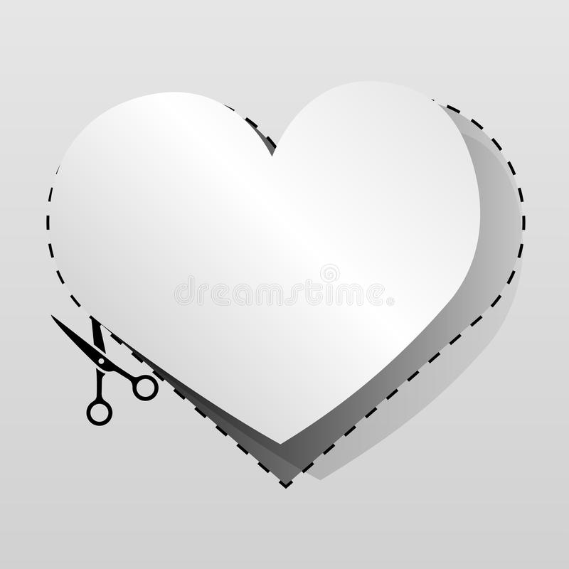 Download Blank White Advertising Heart Stock Vector - Image: 25809745
