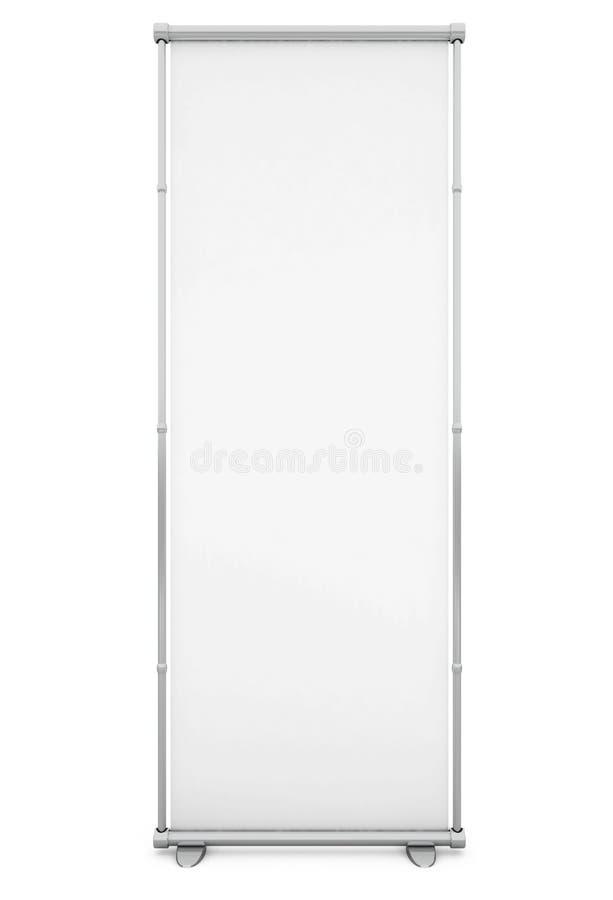 Blank White Banner stock illustration