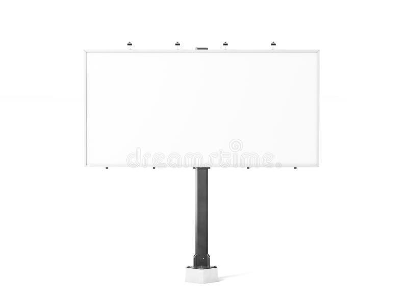 Blank white banner mock up on city billboard, stock illustration