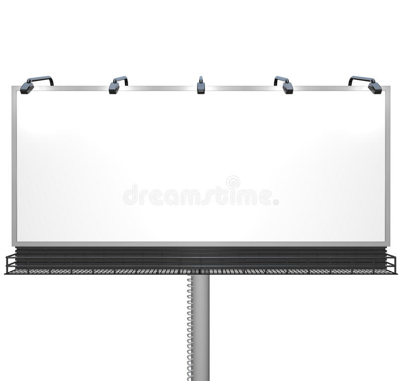 Download Blank White Billboard Ready For Your Message Stock Illustration - Illustration: 20451956