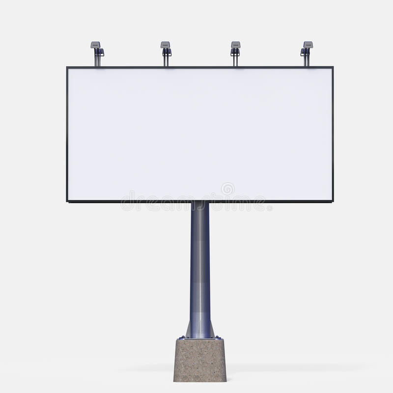 Blank White Billboard Template . Render For Your Special Design ...