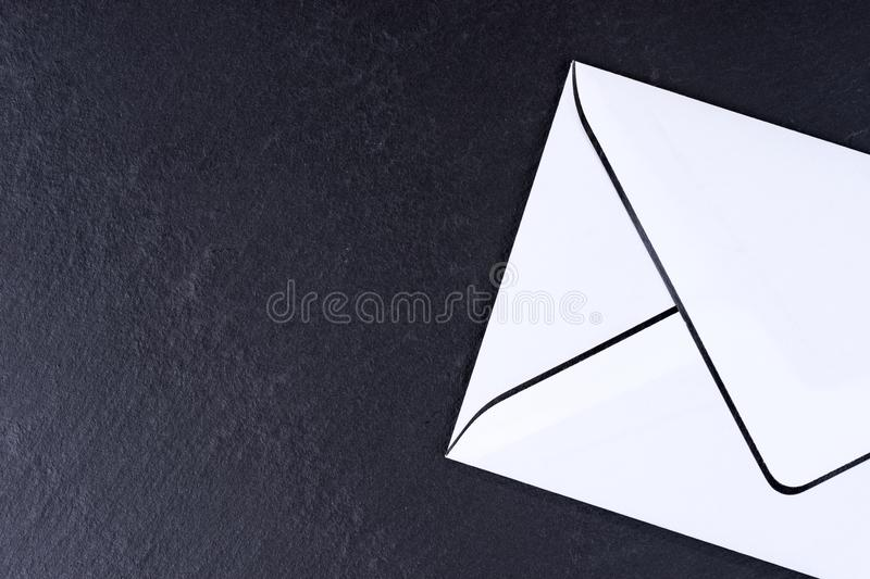 Blank white and black mourning card royalty free stock photography
