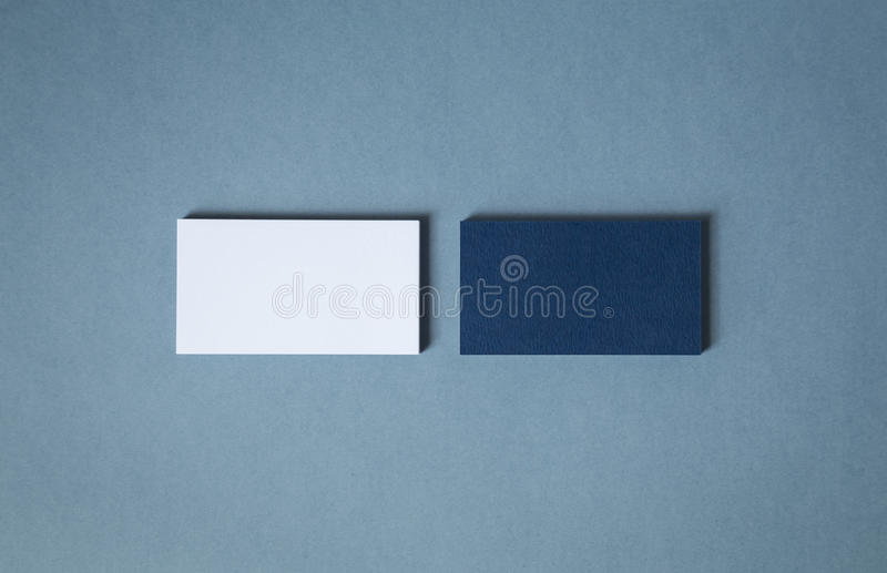 Blank white blue business cards in two stacks stock image image of download blank white blue business cards in two stacks stock image image of design colourmoves