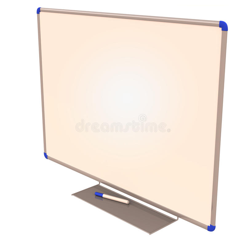 Download Blank White Board With Marker Stock Illustration - Illustration of whiteboard, marker: 24788124