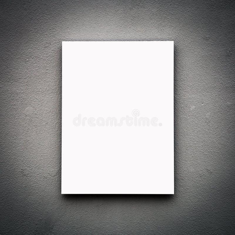 Blank White Board On Wall. Blank White Board On old Wall, copy space stock photos