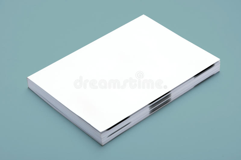 Blank White Book royalty free stock image