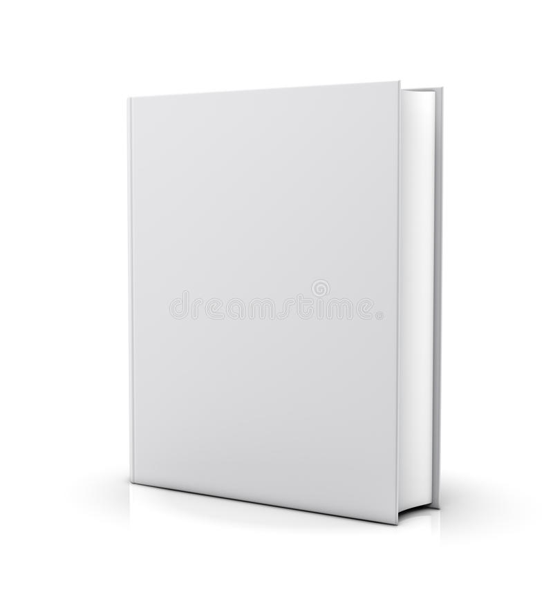 Blank white book cover royalty free illustration