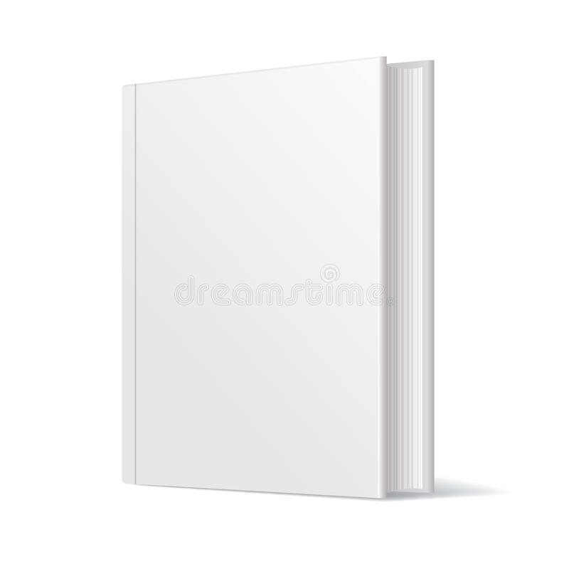 Blank Book Cover Graphic : Blank white book cover vector stock