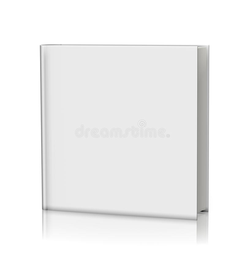 Blank white book hardcover royalty free illustration