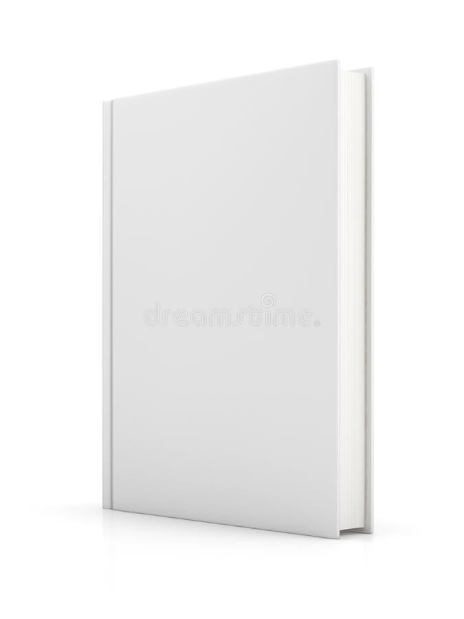 Blank white book vector illustration