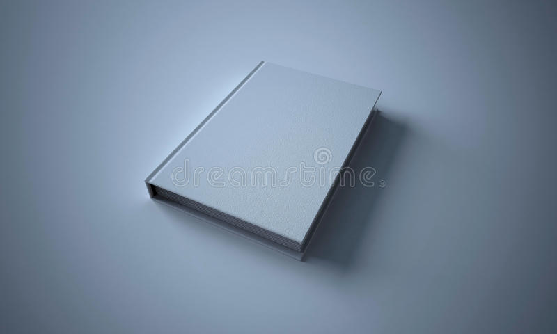 Blank White Book stock image